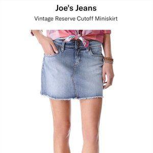 Joe's Jeans Mila Cut off Denim Mini Skirt 26 EUC